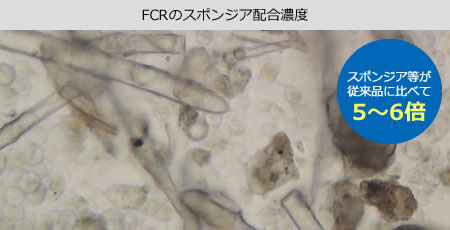 FCRのスポンジア配合濃度